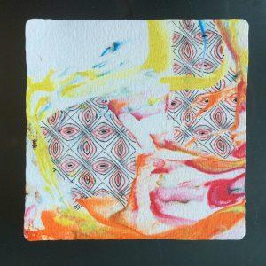 zentangle scheerschuim acryl gekleurd